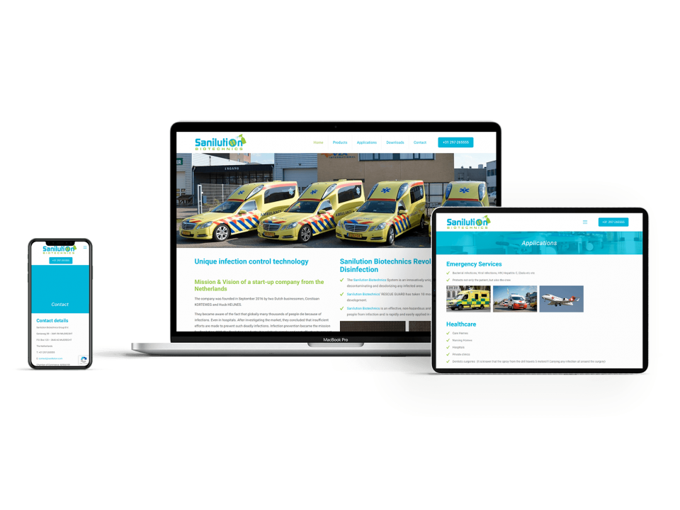 Sanilution website