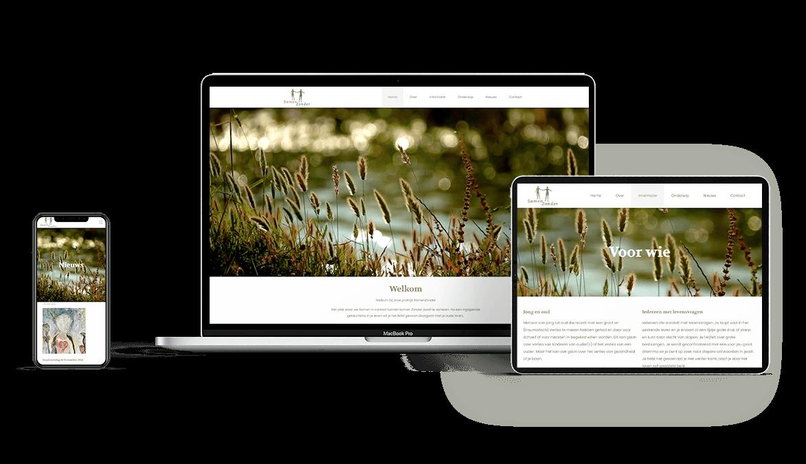 samen zonder website design